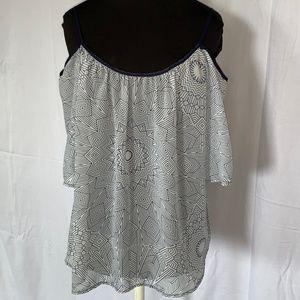 Cold Shoulder Blouse sheer fabric